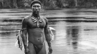 Scene from <i>Embrace of the Serpent</i>.