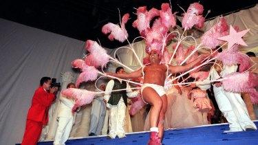 Hairdresser Joh Bailey makes a grand entrance at the Cointreau Ball ..