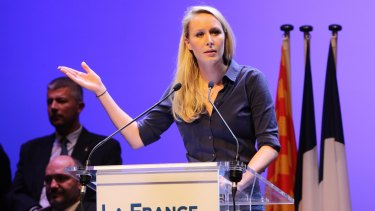 National Front leader Marion Marechal Le Pen - the rise of the far right in Europe mirrors Trump's rise in the United States.