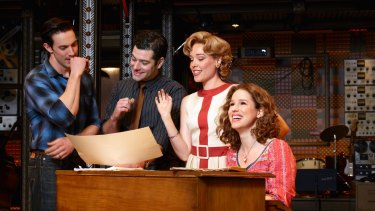 The Broadway cast of Beautiful: The Carole King Musical.