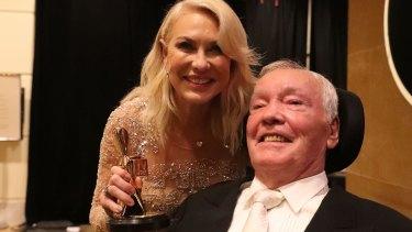 Hall of Fame inductee Kerri-Anne Kennerley and her husband John.