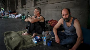 It is estimated that up 250 people are sleeping rough on Melbourne CBD streets.