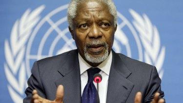 Former UN Secretary General Kofi Annan led the Africa Progress Panel.