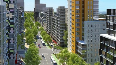 Artist's impression looking north-east along Herring Road.