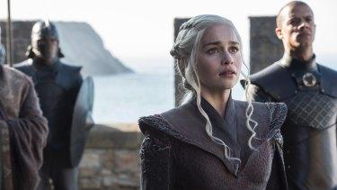 I'm home: Daenerys Targaryen (Emilia Clarke) returns to Dragonstone.