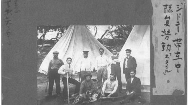 The Japanese camp at Parsley Bay in 1911.