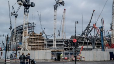 The Hotspurs soccer stadium, which is is carrying out a $1.2 billion, upgrade, in the Tottenham district of London.