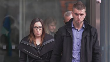 Ashlea Allen and Christopher Oscuro, parents of baby Melarniah.