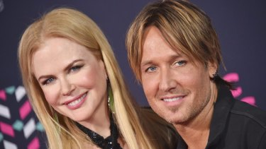 Keith Urban, pictured with wife Nicole Kidman, was nominated in two categories.