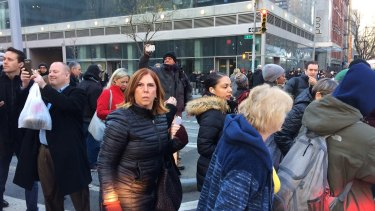 Commuters were evacuated from the Times Square and Port Authority subway stations following the explosion.