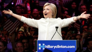 Democratic presidential candidate Hillary Clinton claimed the nomination on Tuesday night.
