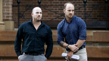 Todd Fisher and Corey Cameron escaped from the explosion and fire that rocked their Rozelle home. Their flatmate Chris Noble died.