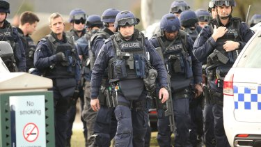 Victoria Police Special Operations Group (SOG) members. The Soggies' philosophy has always been to overprepare when they can to avoid violent confrontations.
