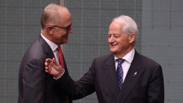 """Former chief whip Philip Ruddock, pictured right, says he would step into the Speaker's role """"if my parliamentary colleagues sought it""""."""