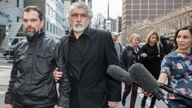 Masa Vukotic's father, Slavoljub Vukotic, at the Melbourne County Court on Monday.
