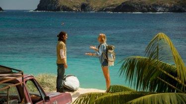 Carlos (Oscar Jaenada) and Nancy (Blake Lively) in <i>The Shallows</i>. Though set in Mexico, parts of the film were shot in NSW.