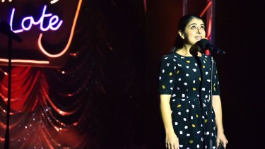 Susie Youssef hosting Comedy up Late at the Melbourne International Comedy Festival.