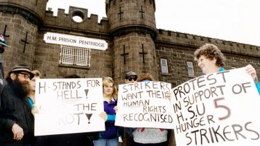 Support for hunger strikers in 1994.