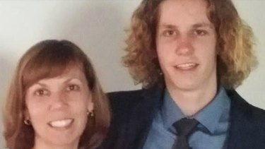 Jackson Williams with his mother Michelle.