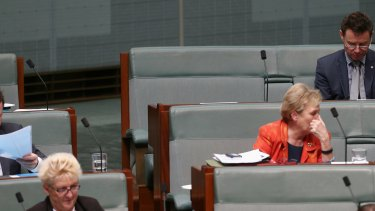 The empty seat of former prime minister Tony Abbott during question time on Thursday.