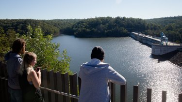 Warragamba Dam on Thursday. It is currently  97.7 per cent full.