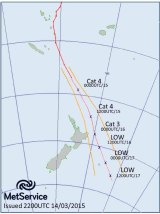 Cyclone Pam heads towards New Zealand