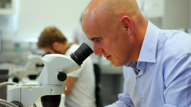 Education Minister Adrian Piccoli at Western Sydney University's Hawkesbury campus.