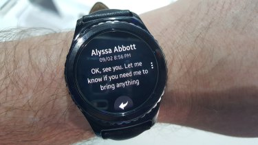 Samsung has opted for its own Tizen operating system over Android Wear.