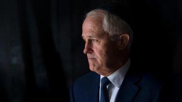 Malcolm Turnbull visits at the Yad Vashem Holocaust Memorial in Jerusalem on Wednesday.