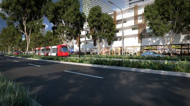 The light rail envisioned in Camellia.