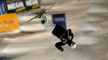 All the right moves: Australia's Matt Graham competes in the men's World Cup freestyle moguls event at Deer Valley in January.