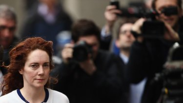 Former News International chief executive Rebekah Brooks arrives at the Old Bailey in February 2014.