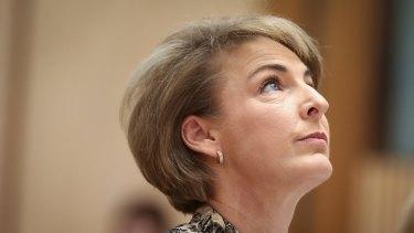 Employment Minister Senator Michaelia Cash during the Senate estimates hearing on Thursday.