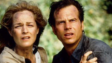 Bill Paxton and Helen Hunt in 1996's <i>Twister</i>.