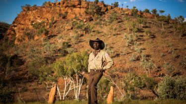 Ranger Michael Murrimal, of Timber Creek, NT, in the Gregory National Park. He is one of the traditional Aboriginal owners of the park, which is in the NT's Victoria River Region.