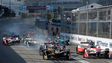 Formula E racers found the Hong Kong circuit difficult to negotiate.