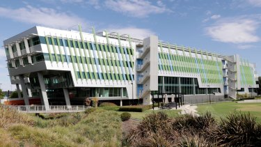 This empty building at Canberra Airport will likely soon house the new headquarters of the Department of Immigration.