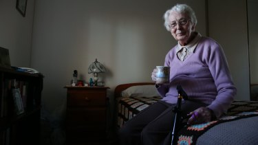 Gwenda Waddington, 85, says registered nurses are needed in all aged care homes.