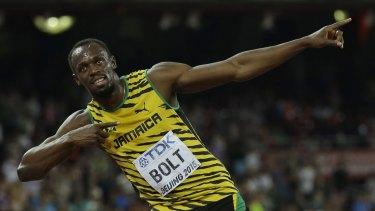 Sprint king Usain Bolt.