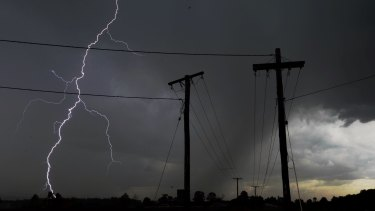 Lightning strikes over the Hawkesbury.
