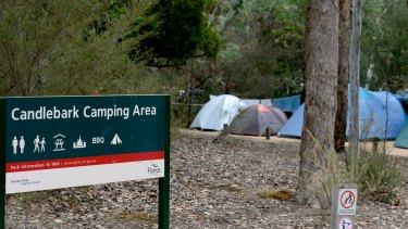 Candlebark Campground in Lake Eildon National Park.