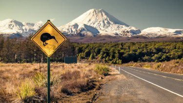 Mount Ngauruhoe is one of three active volcanoes in Tongariro National Park.