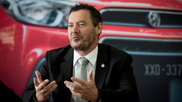 Holden managing director Mark Bernhard.