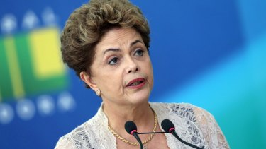 Brazilian President Dilma Rousseff  in Brasilia last week.