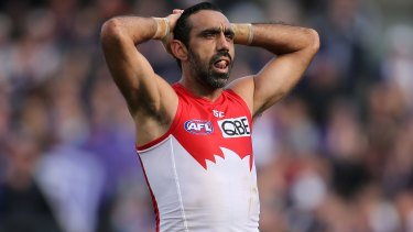 Swans great Adam Goodes.