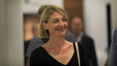 Tara Brown arrives back at Sydney Airport following her detention in Lebanon.