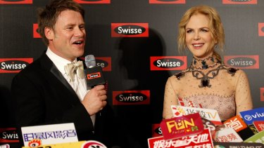 Radek Sali with Nicole Kidman at a Swisse event in Shanghai in 2016,