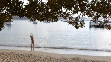 Balmoral Beach on a Saturday morning.