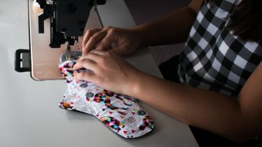 Ms Thong has made each cloth pad from scratch using her own design.