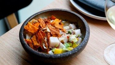 Swordfish ceviche.